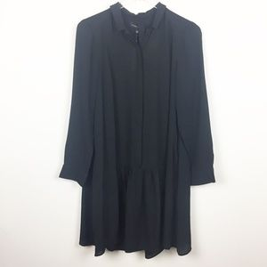 BR | Long Sleeve Pleated Back Shift Dress